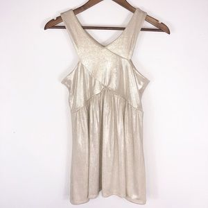 NWT New York & Company NYC Gold Sleeveless Tank